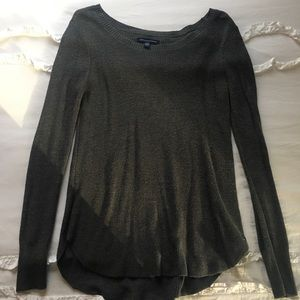 EUC American Eagle Grey Long Sleeve Top/Sweater